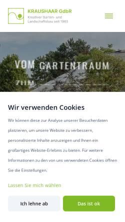 Vorschau der mobilen Webseite www.kraushaar.de, Garten- und Landschaftsbau Kraushaar GdbR