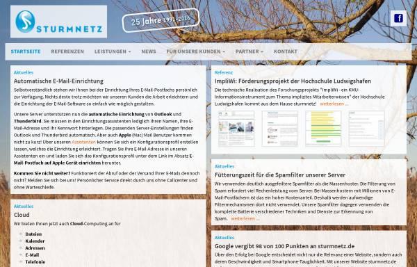 Vorschau von www.sturmnetz.de, Sturm GmbH