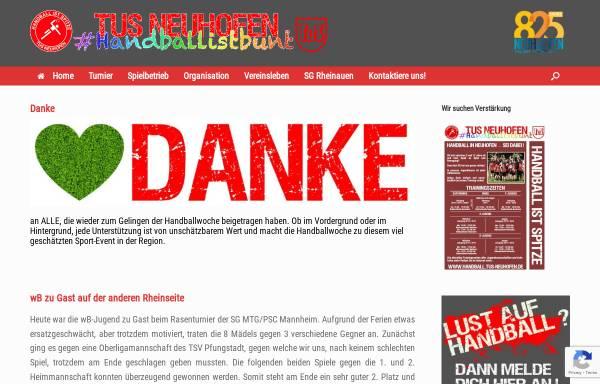 Vorschau von www.handball.tus-neuhofen.de, Handball TuS Neuhofen