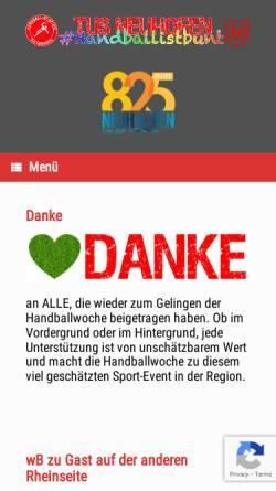 Vorschau der mobilen Webseite www.handball.tus-neuhofen.de, Handball TuS Neuhofen