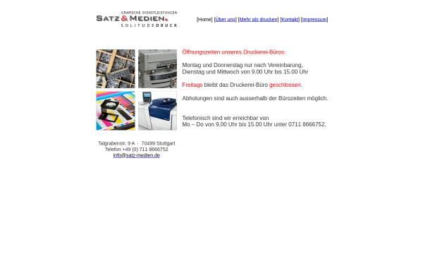 Vorschau von www.satz-medien.de, Grafische Dienstleistungen, Inh. Dieter Peter