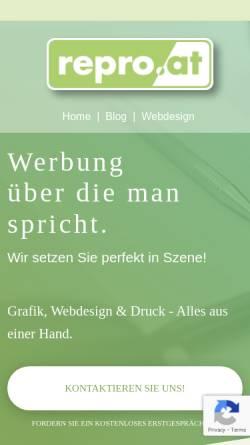 Vorschau der mobilen Webseite www.repro.at, Ing. Alexander Raganitsch