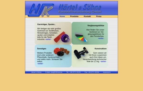 Vorschau von www.hsknet.biz, Härtel & Söhne Kunststoffverarbeitung GmbH