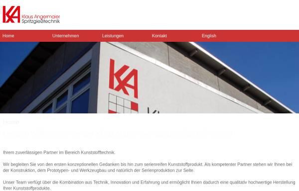 Vorschau von www.angermaier-gmbh.de, Klaus Angermaier Spritzgießtechnik GmbH