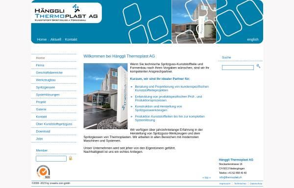 Vorschau von www.thermoplast.ch, Hänggli Thermoplast AG