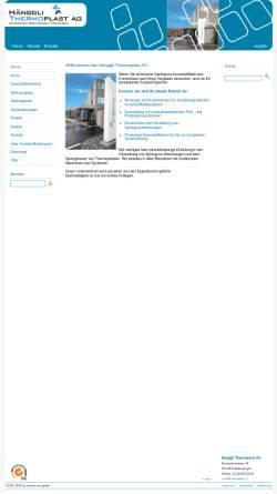 Vorschau der mobilen Webseite www.thermoplast.ch, Hänggli Thermoplast AG