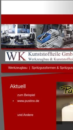 Vorschau der mobilen Webseite www.wk-kunststoffteile.de, WK Kunststoffteile GmbH