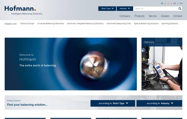 Vorschau von www.auswuchttechnik.de, HOFMANN Mess- und Auswuchttechnik GmbH & Co.KG