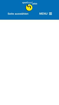 Vorschau der mobilen Webseite www.sportbund.de, Sportbund Pfalz