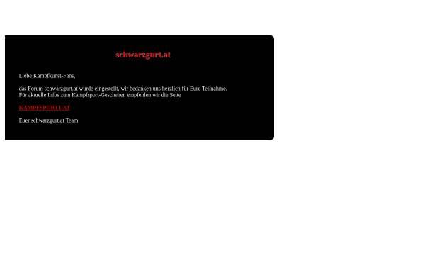 Vorschau von www.schwarzgurt.at, Schwarzgurt