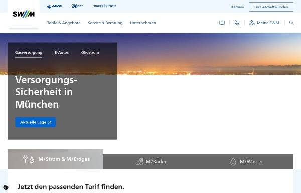 Vorschau von www.swm.de, SWM Stadtwerke München GmbH