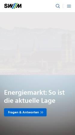 Vorschau der mobilen Webseite www.swm.de, SWM Stadtwerke München GmbH
