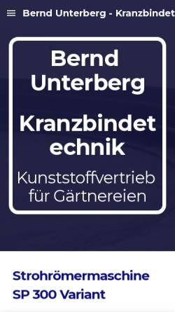 Vorschau der mobilen Webseite www.unterbergs.de, Bernd Unterberg