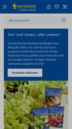 Vorschau der mobilen Webseite kiepenkerl.de, Kiepenkerl - Bruno Nebelung GmbH & Co.