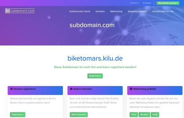 Vorschau von www.biketomars.kilu.de, Radreisen im Land der ehrbaren Männer [Wolfgang Augustin]
