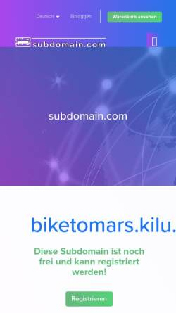 Vorschau der mobilen Webseite www.biketomars.kilu.de, Radreisen im Land der ehrbaren Männer [Wolfgang Augustin]