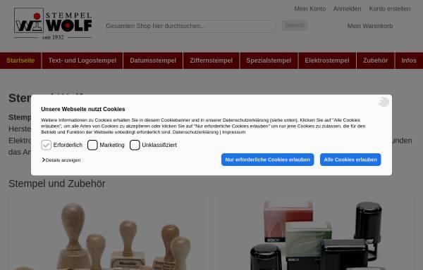 Vorschau von www.stempel-wolf.de, Stempel-Wolf GmbH