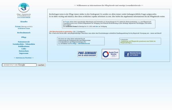 Vorschau von www.wernerschell.de, Institut für Pflegerecht und Gesundheitswesen