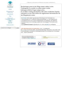 Vorschau der mobilen Webseite www.wernerschell.de, Institut für Pflegerecht und Gesundheitswesen