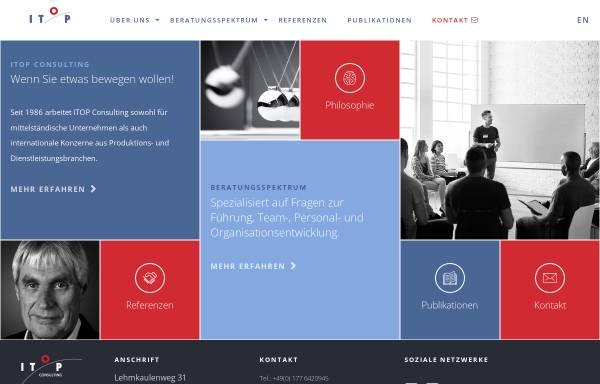Vorschau von www.itop.de, ITOP - Institut für Trainerfortbildung, Organisationsberatung und Personalentwicklung