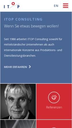 Vorschau der mobilen Webseite www.itop.de, ITOP - Institut für Trainerfortbildung, Organisationsberatung und Personalentwicklung