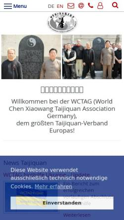 Vorschau der mobilen Webseite wctag.de, WCTAG