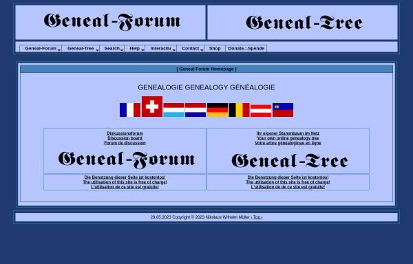 Vorschau von www.geneal-forum.com, Geneal-Forum.com