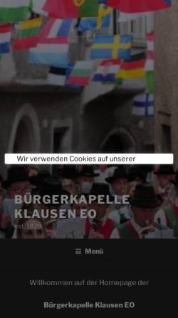 Vorschau der mobilen Webseite musik.klausen.it, Bürgerkapelle Klausen
