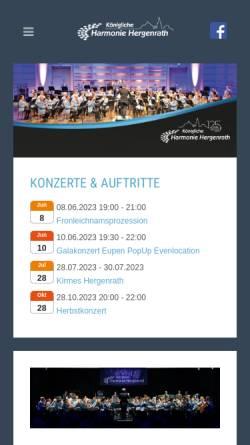 Vorschau der mobilen Webseite www.harmonie-hergenrath.be, Kgl. Harmonie Hergenrath