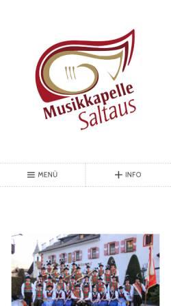 Vorschau der mobilen Webseite musikkapelle.it, Musikkapelle Saltaus