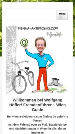 Vorschau der mobilen Webseite www.vienna-aktivtours.com, Vienna Aktivtours