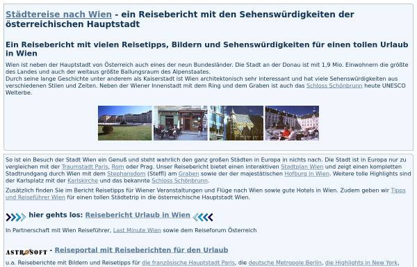 Vorschau von astrosoft.de, Wien - Die Kulturstadt in Österreich