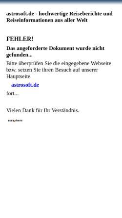 Vorschau der mobilen Webseite astrosoft.de, Wien - Kultur in Österreich