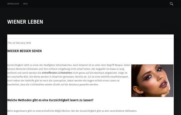 Vorschau von www.wienerleben.de, Wienerleben.de - Klassisch, romantisch, modern