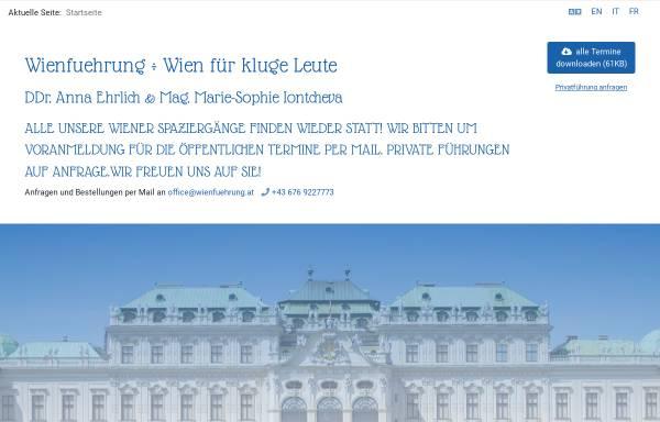 Vorschau von www.wienfuehrung.com, Wienführung von und mit DDr. Anna Ehrlich