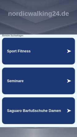 Vorschau der mobilen Webseite www.nordicwalking24.de, Iris Büscher