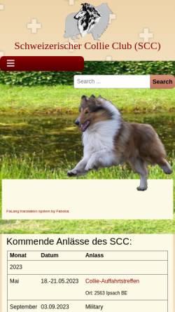 Vorschau der mobilen Webseite www.collieclub.ch, Schweizer Collie Club