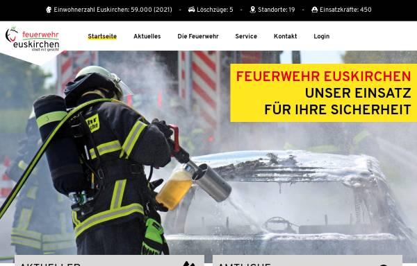 Vorschau von www.feuerwehr-euskirchen.de, Freiwillige Feuerwehr der Stadt Euskirchen