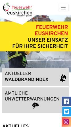 Vorschau der mobilen Webseite www.feuerwehr-euskirchen.de, Freiwillige Feuerwehr der Stadt Euskirchen