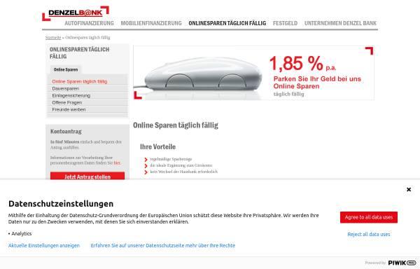 Vorschau von www.denzelbank.at, Wolfgang Denzel AG
