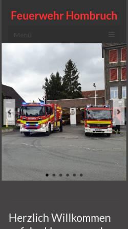 Vorschau der mobilen Webseite www.feuerwehr-hombruch.de, Loeschzug Hombruch