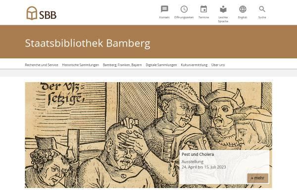 Vorschau von www.staatsbibliothek-bamberg.de, Staatsbibliothek Bamberg