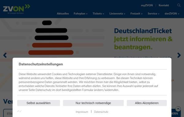 Vorschau von www.zvon.de, ZVON - Zweckverband Verkehrsverbund Oberlausitz-Niederschlesien