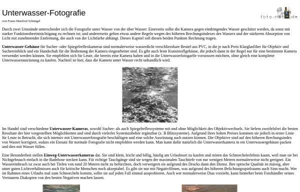 Vorschau von foto-net.de, Unterwasserkameras