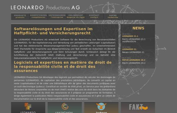 Vorschau von www.leonardo.ag, Capitalisator by Leonardo-Productions AG