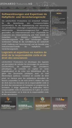 Vorschau der mobilen Webseite www.leonardo.ag, Capitalisator by Leonardo-Productions AG