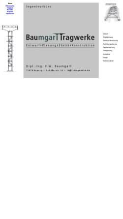 Vorschau der mobilen Webseite www.fbtragwerke.de, Baumgart, Fredi