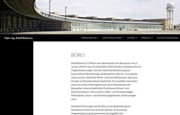Vorschau von bauingenieur-behrens.de, Behrens, Adolf