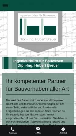 Vorschau der mobilen Webseite www.ibb-breuer.de, Breuer, Hubert