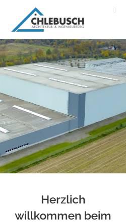 Vorschau der mobilen Webseite www.chlebusch.de, Chlebusch, Susanne und Holger